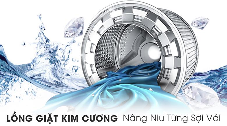 Lồng giặt kim cương - Máy giặt Samsung AddWash Inverter 8 kg WW80K5410US/SV