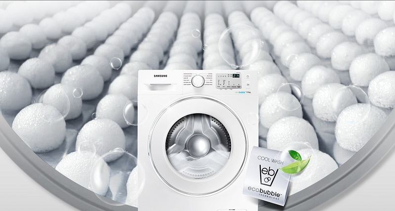 Máy giặt Samsung WW80J4233GW/SV và công nghệ Eco Bubble
