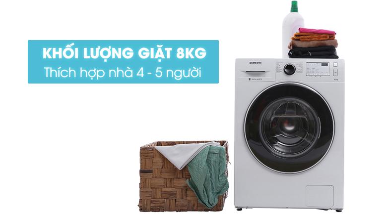 Máy giặt Samsung inverter 8.0 kg WW80J4233GW/SV