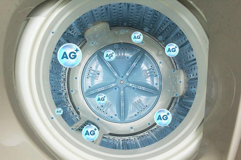 Máy giặt Aqua AQW-U90AT N có mâm bạc kháng khuẩn