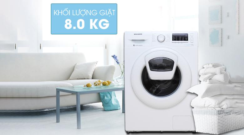 thiết kế máy giặt samsung ww80k5410ww/sv