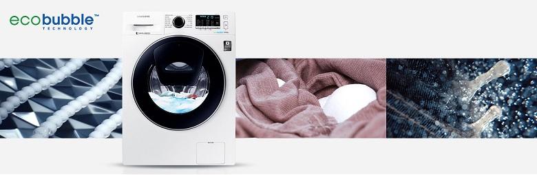 Công nghệ Eco Bubble trên máy giặt Samsung WW80K5410WW/SV