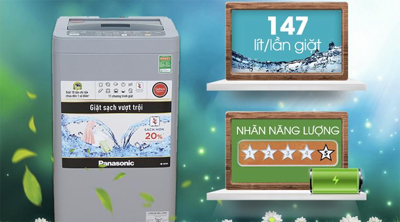 Nhãn năng lượng 5 sao tiết kiệm điện - Máy giặt Panasonic 7 kg NA-F70VS9GRV