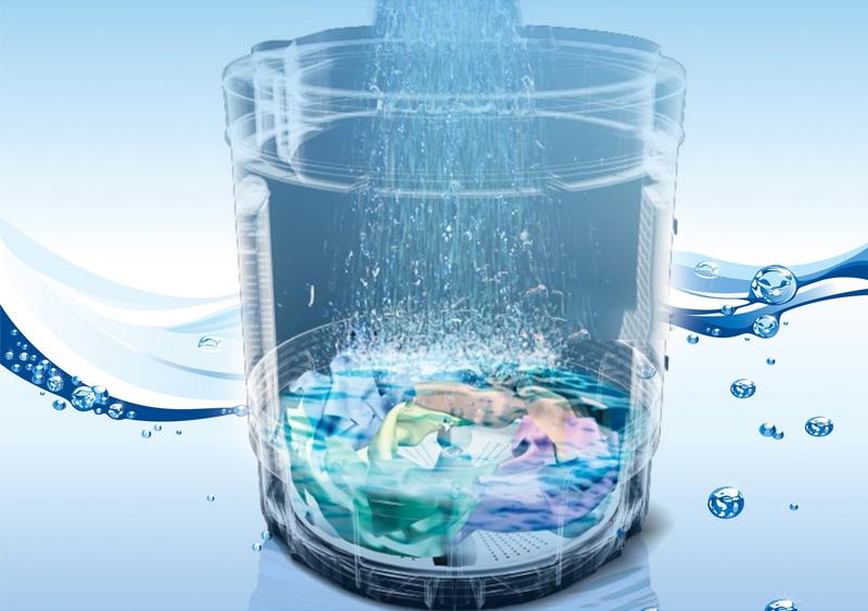 Chế độ giặt xả Aqua Spin Rinse tiết kiệm nước