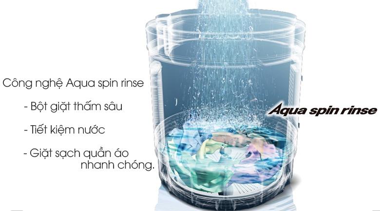 Aqua Spin Rinse - Máy giặt Panasonic 7.6 kg NA-F76VG9HRV