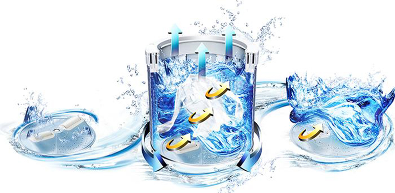 Chế độ giặt nhiều luồng nước phun tăng hiệu quả giặt