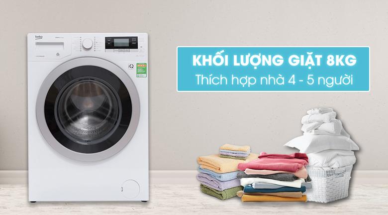 thiết kế máy giặt beko wtv 8634 xs0