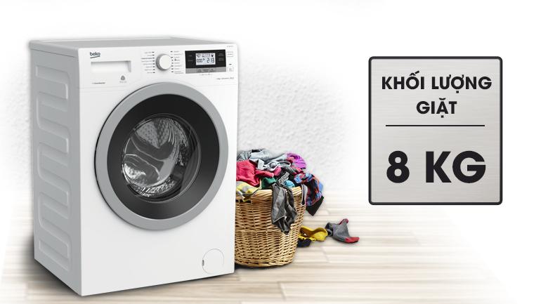 Khối lượng giặt - Máy giặt Beko inverter 8 kg WTV 8634 XS0