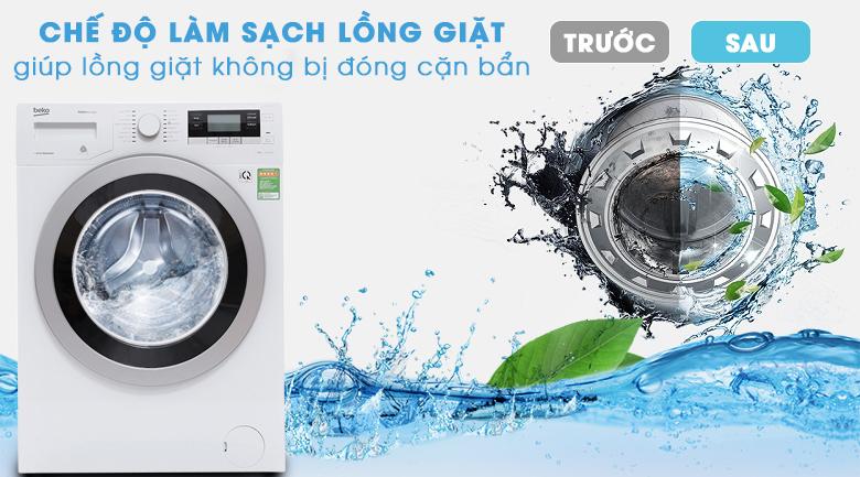Chế độ làm sạch lồng giặt  - Máy giặt Beko inverter 8 kg WTV 8634 XS0