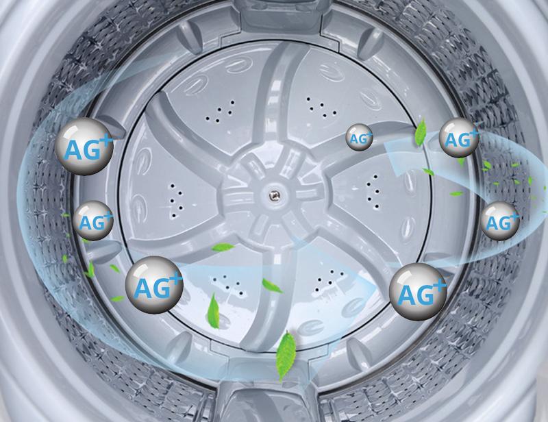mâm giặt phủ nano bạc trên máy giặt AQUA 8 kg AQW-F800AT