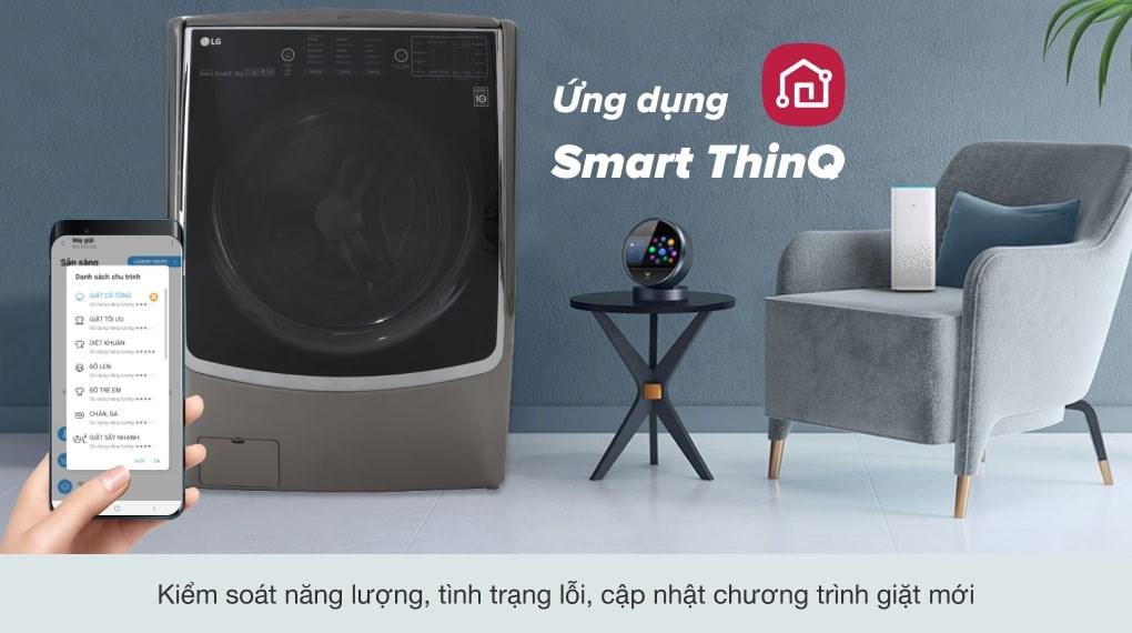 Giặt 6 chuyển động - Máy giặt sấy LG Inverter 21 kg F2721HTTV