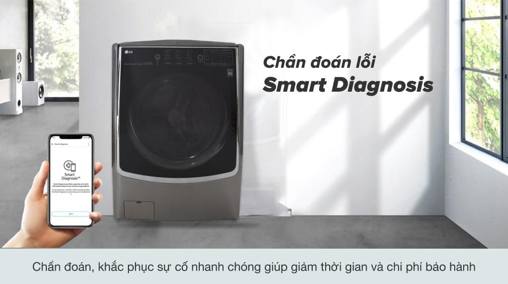Tính năng giặt hơi nước - Máy giặt sấy LG Inverter 21 kg F2721HTTV