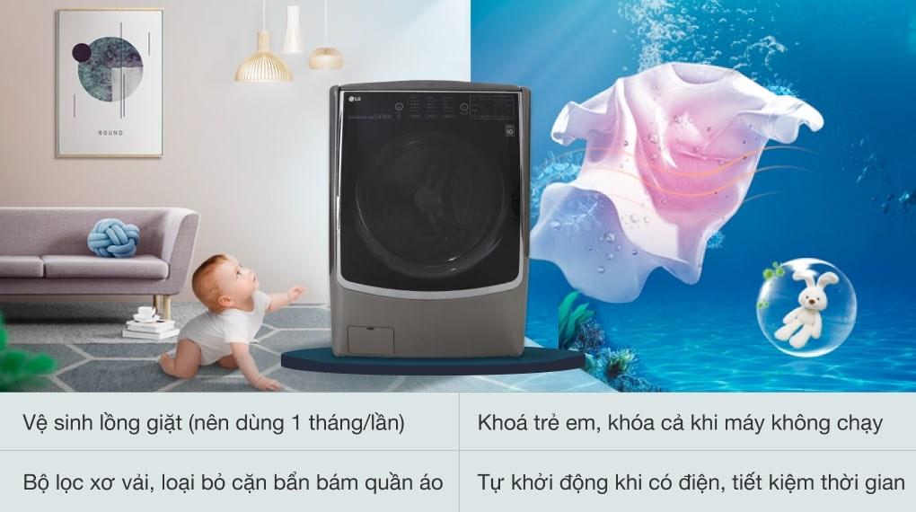 Sấy ngưng tụ ECO HYBRID - Máy giặt sấy LG Inverter 21 kg F2721HTTV