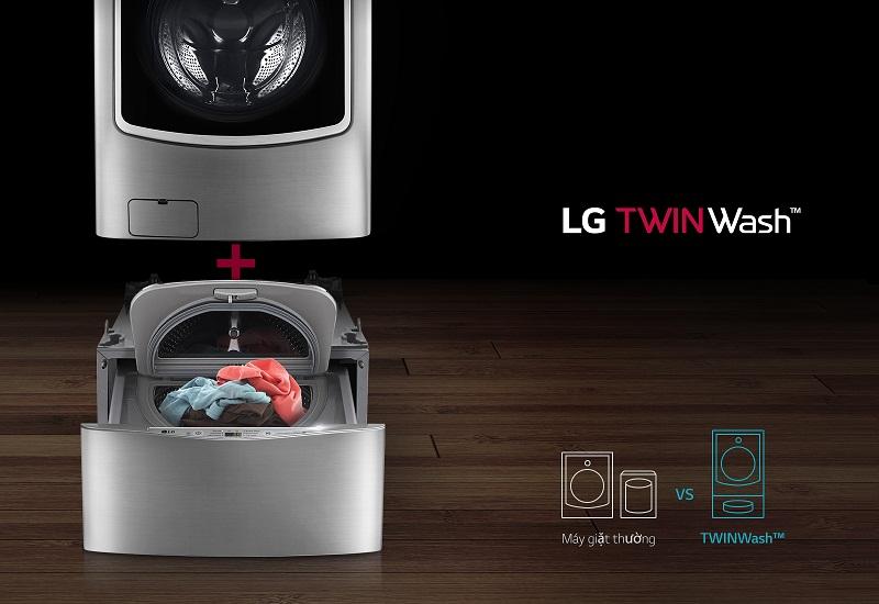 có thể đặt máy giặt phụ bên dưới máy giặt chính