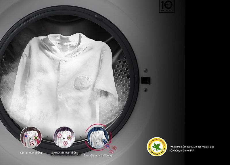 Kháng khuẩn cho quần áo nhờ chế độ giặt hơi nước