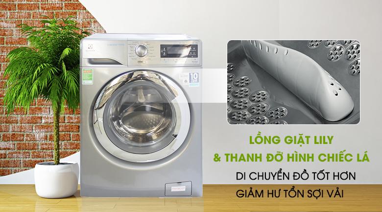 Lồng giặt Lily và thanh nâng hình chiếc lá - Máy giặt Electrolux Inverter 10 kg EWF14023S