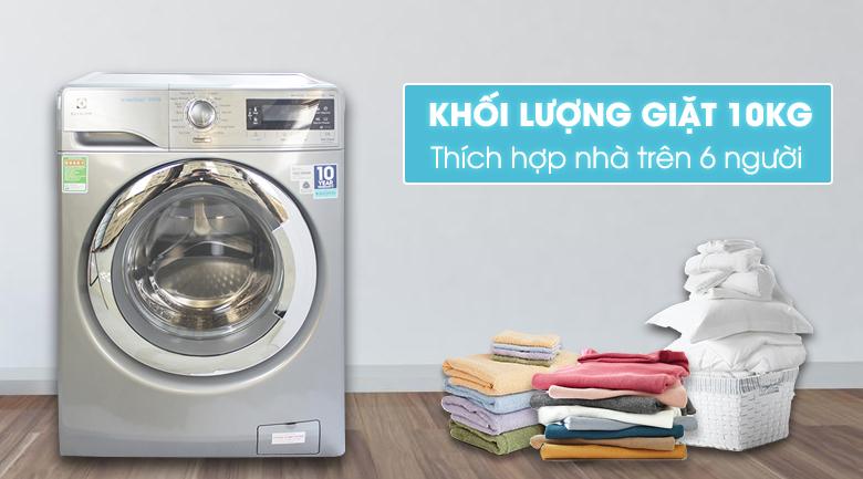 khối lượng giặt 10 kg - Máy giặt Electrolux Inverter 10 kg EWF14023S