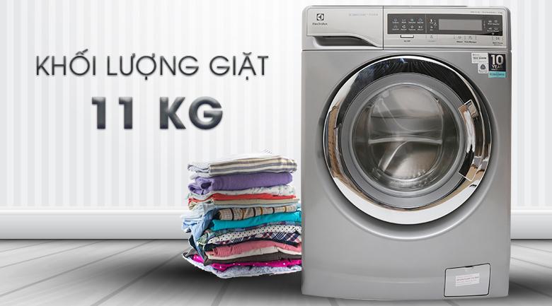 Khối lượng giặt 11 kg - Máy giặt Electrolux Inverter 11 kg EWF14113 S