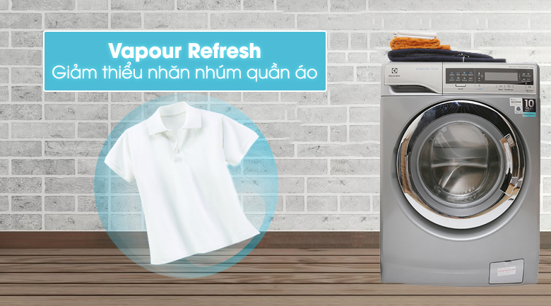 Chức năng Vapour Refresh - Máy giặt Electrolux Inverter 11 kg EWF14113 S