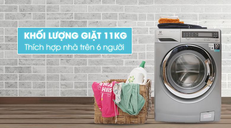 thiết kế hiện đại, sang trọng của máy giặt electrolux ewf14113 s