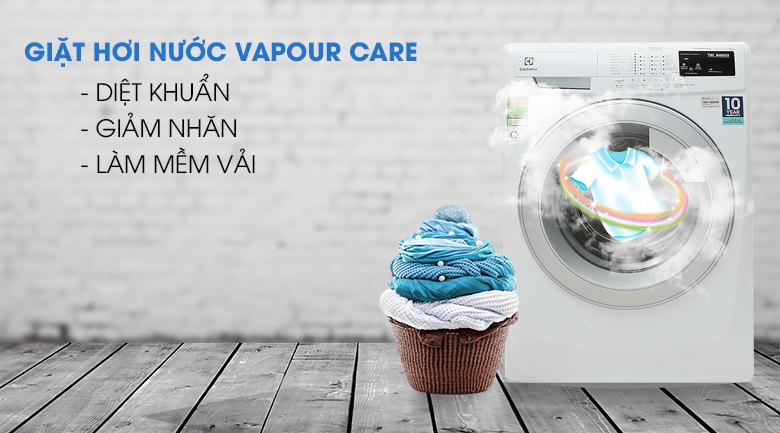 Giặt hơi nước Vapour Care - Máy giặt Electrolux 8 Kg EWF12844