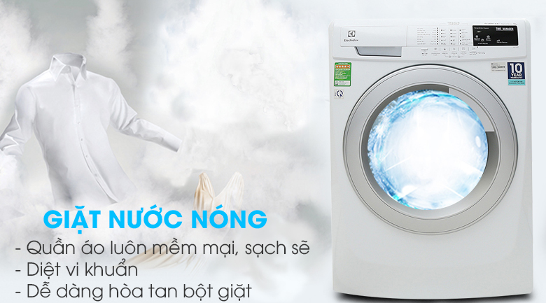 Chức năng giặt nước nóng - Máy giặt Electrolux 8 Kg EWF12844