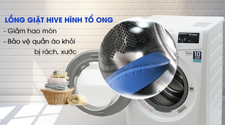 Lồng giặt Hive hình tổ ong - Máy giặt Electrolux 8 Kg EWF12844