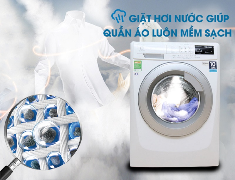 Chức năng giặt hơi nước diệt khuẩn