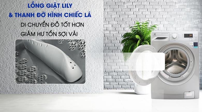 Lồng giặt Lily - Máy giặt Electrolux Inverter 8 kg EWF12853S