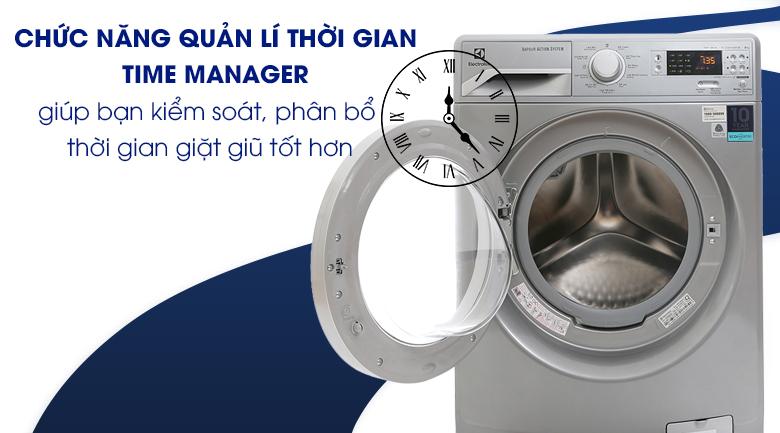 Chức năng quàn lí thời gian Time Manager - Máy giặt Electrolux Inverter 8 kg EWF12853S