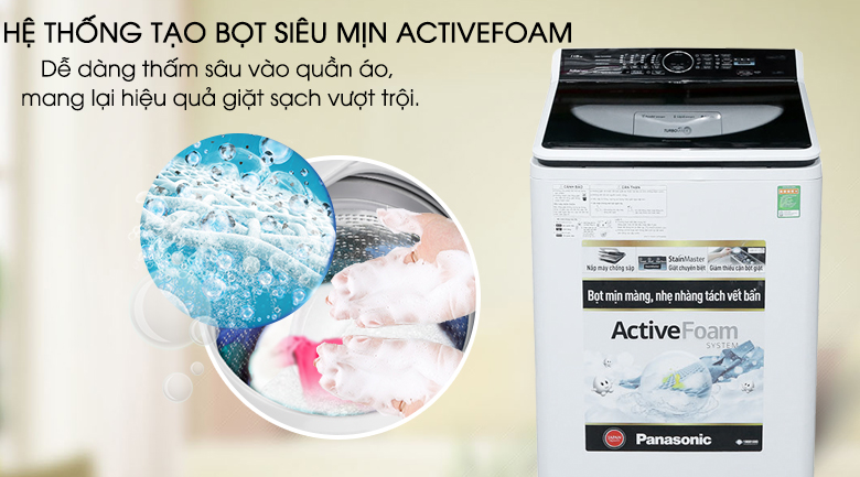Active Foam - Máy giặt Panasonic 11.5 kg NA-F115A5WRV