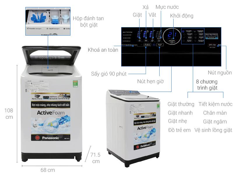 Thông số kỹ thuật Máy giặt Panasonic 13.5 kg NA-F135A5WRV