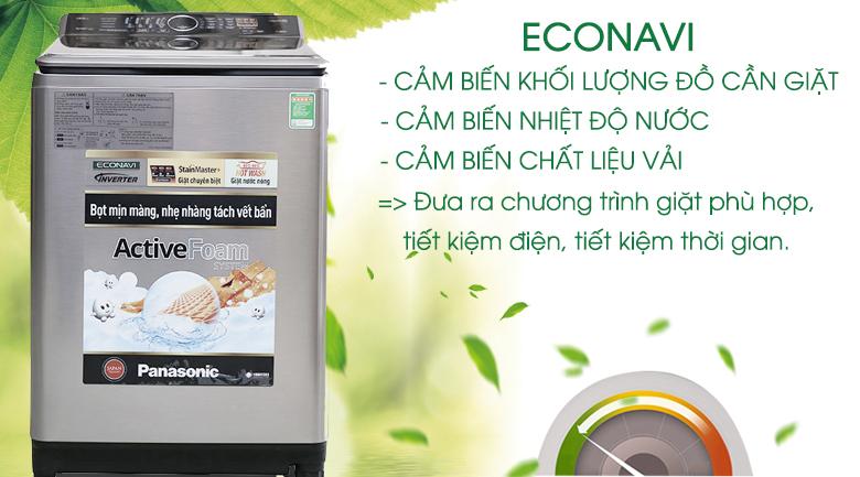 Cảm biến Econavi tiết kiệm điện năng - Máy giặt Panasonic 13.5 kg NA-F135V5SRV
