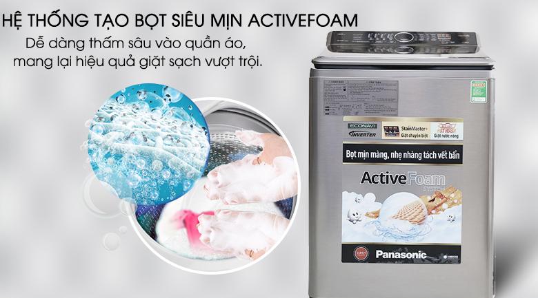 Hệ thống tạo bọt siêu mịn ActiveFoam - Máy giặt Panasonic 13.5 kg NA-F135V5SRV