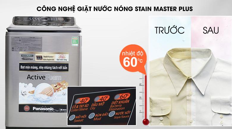 Công nghệ giặt nước nóng StainMaster+ - Máy giặt Panasonic 13.5 kg NA-F135V5SRV