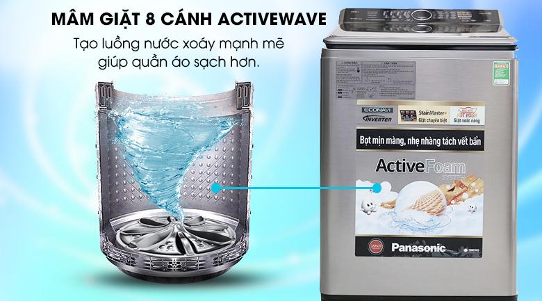 Mâm giặt 8 cánh Active Wave - Máy giặt Panasonic 13.5 kg NA-F135V5SRV