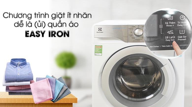 Chương trình giặt Easy Iron - Máy giặt Electrolux Inverter 9 kg EWF12933