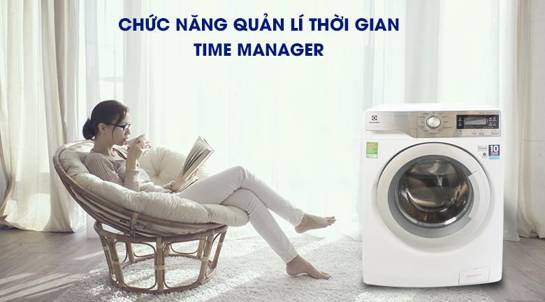 Chức năng quản lí thời gian Time Manager - Máy giặt Electrolux Inverter 9 kg EWF12933