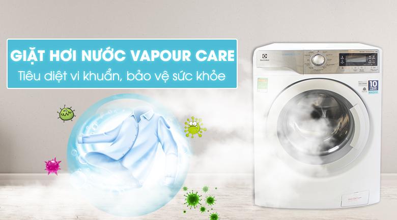 Công nghệ giặt hơi nước Vapour Care - Máy giặt Electrolux Inverter 9 kg EWF12933