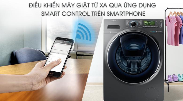 Điều khiển từ xa Smart Control - Máy giặt Samsung AddWash Inverter 12 Kg WW12K8412OX/SV