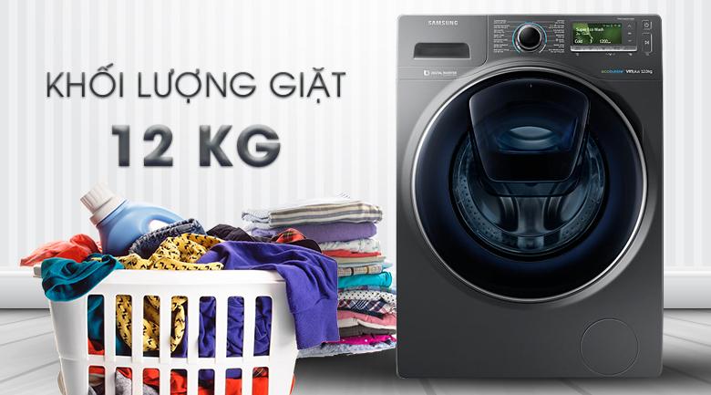 Khối lượng giặt 12 kg - Máy giặt Samsung AddWash Inverter 12 Kg WW12K8412OX/SV