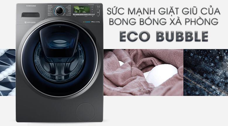 Công nghệ Eco Bubble - Máy giặt Samsung AddWash Inverter 12 Kg WW12K8412OX/SV