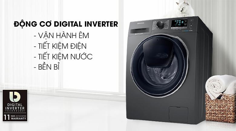 Động cơ Digital Inverter - Máy giặt Samsung Inverter 10.5 kg WW10K6410QX/SV