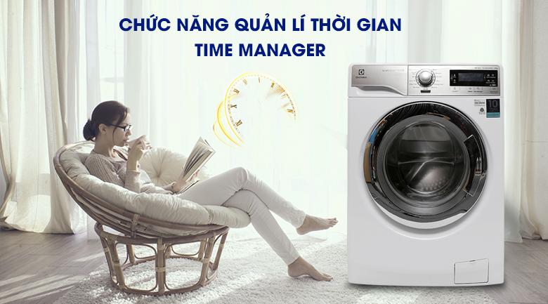 Chức năng quản lí thời gian Time Manager - Máy giặt Electrolux Inverter 10.0 kg EWF14023