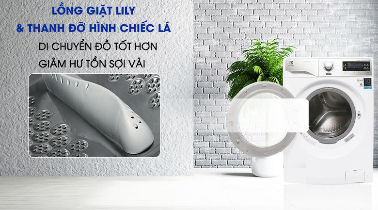 Lồng giặt Lily - Máy giặt Electrolux Inverter 10 kg EWF14023