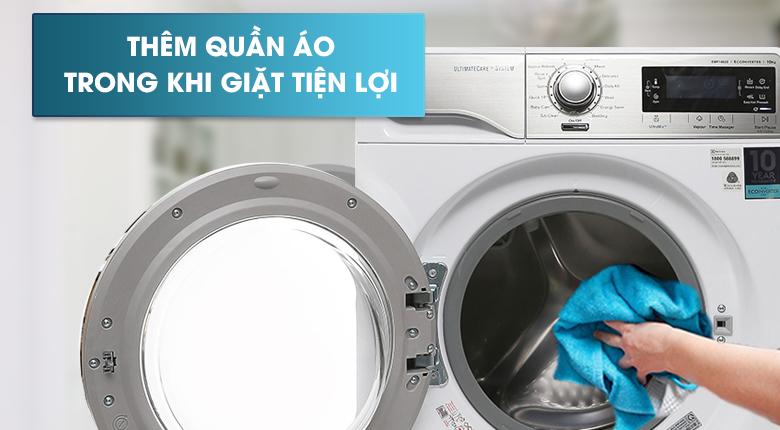 Chức năng Add Clothes - Máy giặt Electrolux Inverter 10 kg EWF14023