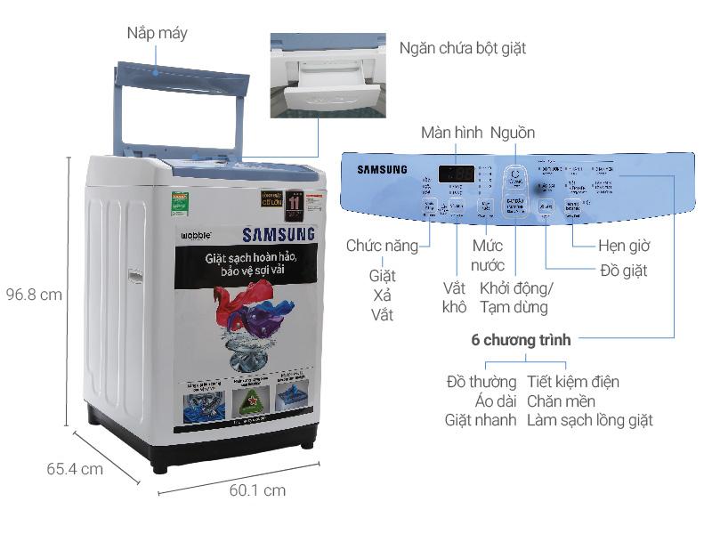 Thông số kỹ thuật Máy giặt Samsung 8.5 kg WA85M5120SW/SV