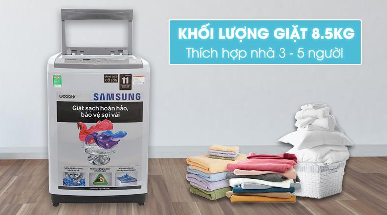 thiết kế máy giặt samsung wa85m5120sg/sv