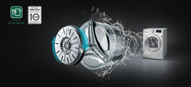 Máy giặt Inverter vận hành êm ái, bền bỉ