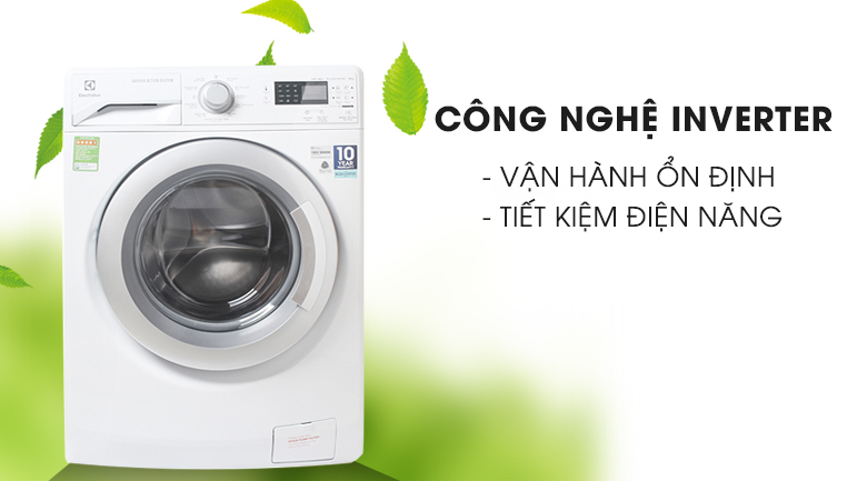 Công nghệ Inverter - Máy giặt Electrolux Inverter 8 kg EWF12853
